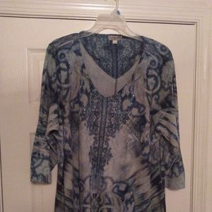 One World embellished print tunic